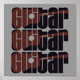 De akoestische Roest van de Gitaar Poster