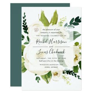 De albasten BloemenUitnodiging van het Huwelijk Kaart