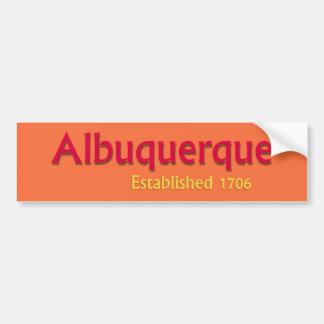 De Albuquerque Gevestigde Sticker van de Bumper Bumpersticker