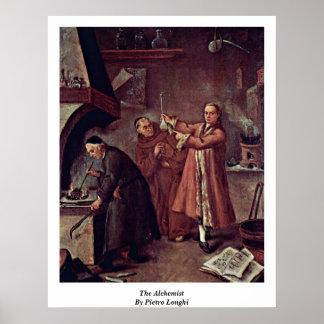 De alchimist door Pietro Longhi Poster