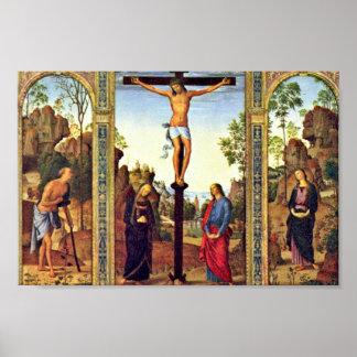 De algemene Kruisiging van de Triptiek van Poster