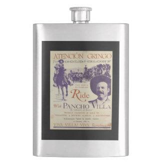 De algemene Mexicaanse Held van Pancho Villa Flacon