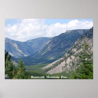 De Alpiene Pas van de Berg Beartooth van nr 33 - Poster