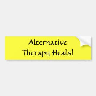 De alternatieve Therapie heelt! - bumpersticker