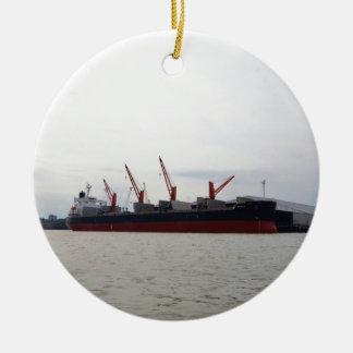 De Altviool van de Bulk-carrier Rond Keramisch Ornament