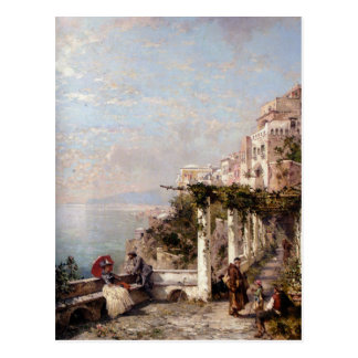 De Amalfi Kust door Franz Richard Unterberger Briefkaart