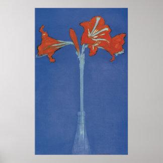 De Amaryllis van Mondrian onmiddellijk Poster