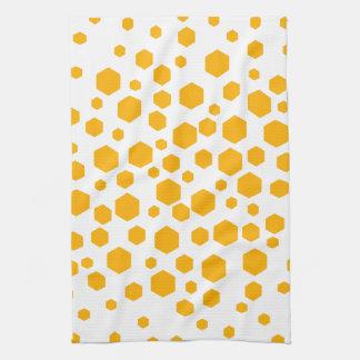 De amber Hexagon Punten van de Kleur Handdoeken