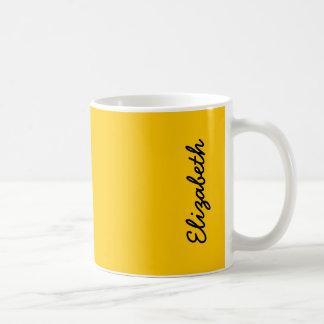 De amber Stevige Kleur past het aan Koffiemok