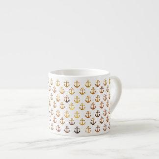 De amber textuur verankert patroon espresso kop