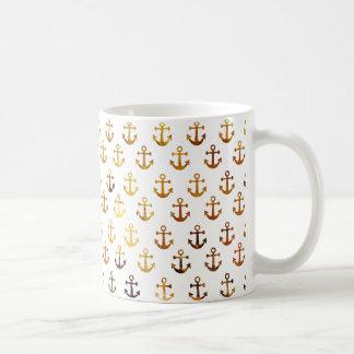 De amber textuur verankert patroon koffiemok