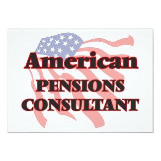 De Amerikaanse Adviseur van Pensioenen 12,7x17,8 Uitnodiging Kaart