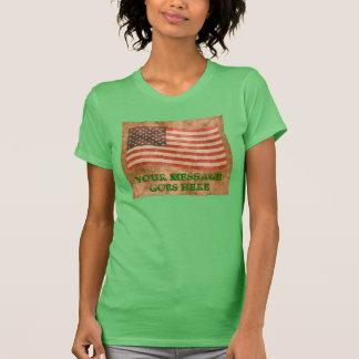 De Amerikaanse Antiquiteit van de Vlag kijkt T Shirt