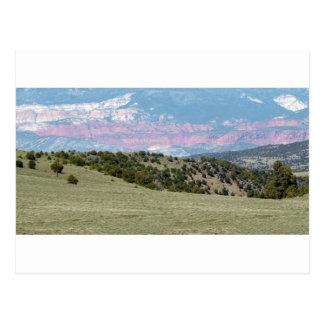De Amerikaanse Bergketens van de Canions van de Briefkaart