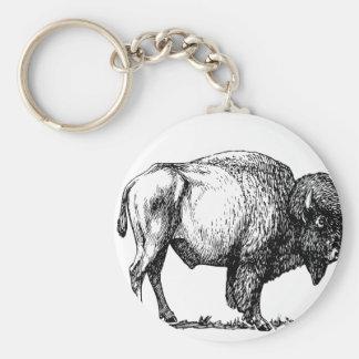 De Amerikaanse Bizon van Buffels Sleutelhanger