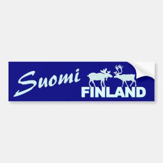 De Amerikaanse elanden & het Rendier van Finland Bumpersticker