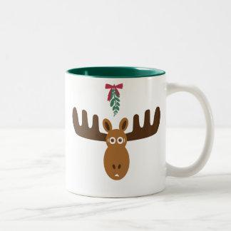 De Amerikaanse elanden van de Kus van Tweekleurige Koffiemok
