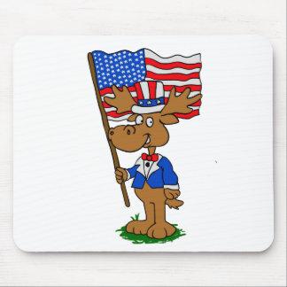 De Amerikaanse elanden van de patriot Muismat