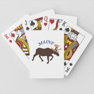 De Amerikaanse elanden van Maine Pokerkaarten