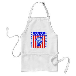 De Amerikaanse Gemaakte Zeeman van de Vlag van de Standaard Schort