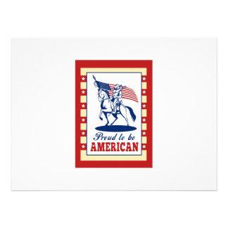 De Amerikaanse Groet van het Poster van de Dag van Aankondigingen