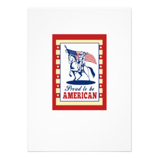 De Amerikaanse Groet van het Poster van de Dag van Gepersonaliseerde Uitnodigingen
