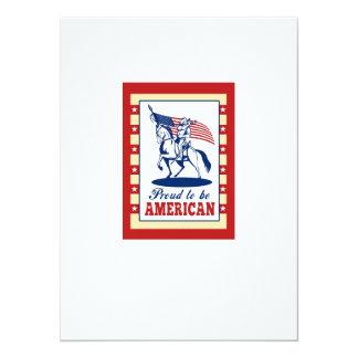 De Amerikaanse Groet van het Poster van de Dag van Gepersonaliseerde Uitnodiging