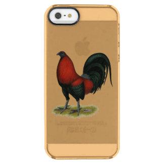 De Amerikaanse Haan van BB van het Spel Zwarte Doorzichtig iPhone SE/5/5s Hoesje