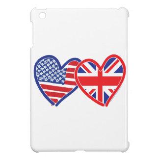 De Amerikaanse Harten van Union Jack van de Vlag iPad Mini Case