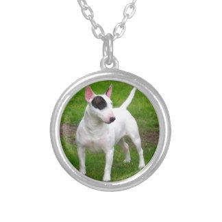 De Amerikaanse Hond van Bull terrier van de Kuil Zilver Vergulden Ketting