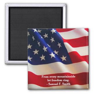 De Amerikaanse Klantgerichte Golf van de Vlag Magneet