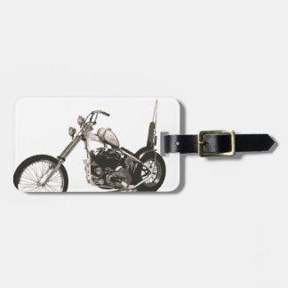 De Amerikaanse Klassieke Motorfiets van de Bijl Bagagelabel