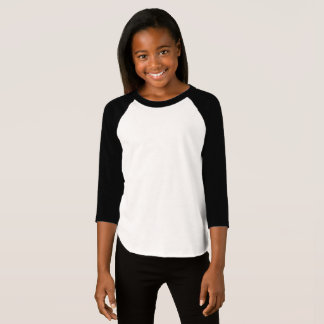 De Amerikaanse Kleding van meisjes 3/4 Raglan van T Shirt