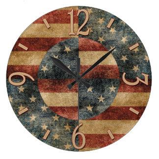 De Amerikaanse Klok van de Muur van de Vlag