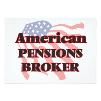 De Amerikaanse Makelaar van Pensioenen 12,7x17,8 Uitnodiging Kaart