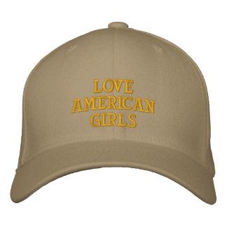 De Amerikaanse Meisjes van de liefde Geborduurde Baseball Caps