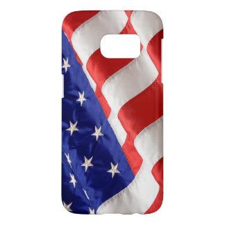 De Amerikaanse Melkweg van Samsung van de Vlag Samsung Galaxy S7 Hoesje