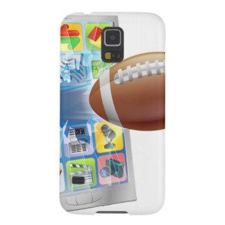 De Amerikaanse mobiele telefoon van de footballbal