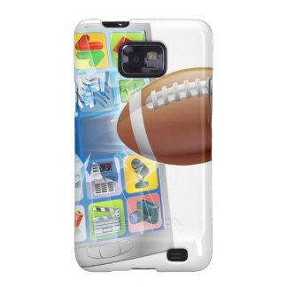 De Amerikaanse mobiele telefoon van de footballbal Galaxy S2 Case