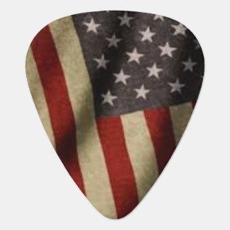 De Amerikaanse Oogst van de Vlag Gitaar Plectrum 0