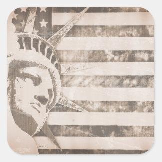 De Amerikaanse Patriot van de Vrijheid Vierkante Sticker