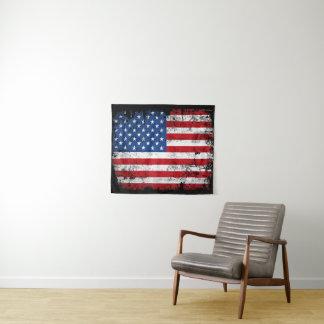 De Amerikaanse Patriottische Muur van de Vlag Wandkleed