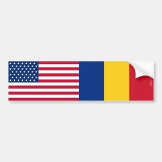 De Amerikaanse & Roemeense Sticker van de Bumper