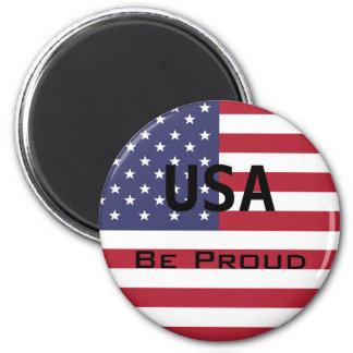 De Amerikaanse Sjabloon van de Vlag Magneet