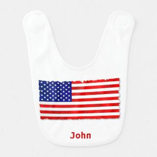 De Amerikaanse Slab van het Baby van de Vlag Baby Slabbetje