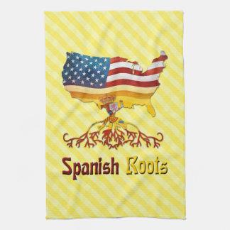 De Amerikaanse Spaanse Theedoeken van Wortels
