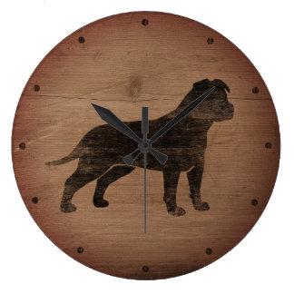 De Amerikaanse Staffordshire Terrier Plattelander Grote Klok
