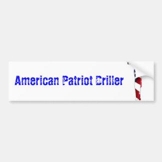 De Amerikaanse Sticker van de Bumper van de Boor v