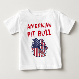 De Amerikaanse Stier van de Kuil Baby T Shirts