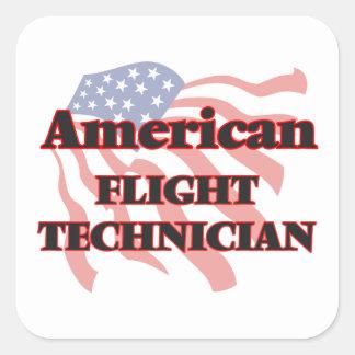 De Amerikaanse Technicus van de Vlucht Vierkant Sticker